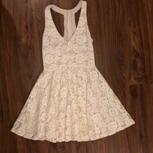 Ark & Co Beige Lace Dress